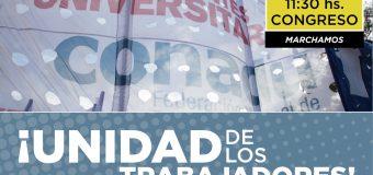 CONADU marcha junto a todos los docentes del país en reclamo de paritarias libres y sin techo