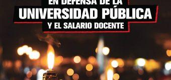Marcha de Antorchas en defensa de la Universidad Pública y del Salario Docente