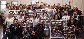 Diputados apoyaron la Marcha de las Antorchas en Defensa de la Universidad Pública.