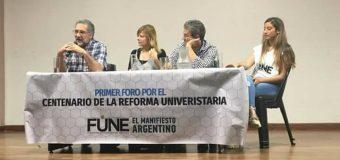 Primer Foro por el Centenario de la Reforma Universitaria