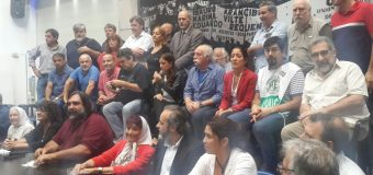 Conferencia de prensa contra las amenazas a Roberto Baradel