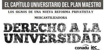 EL  CAPÍTULO  UNIVERSITARIO  DEL  PLAN  MAESTRO:  LOS  SIGNOS  DE  UNA  NUEVA  REFORMA  PRIVATISTA Y MERCANTILIZADORA