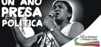 Milagro Sala: 1 año presa política. Exigimos su inmediata libertad