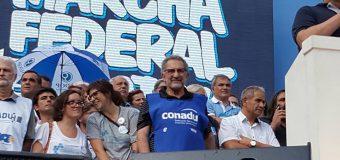 Carlos de Feo encabezará la columna  sindical junto a la CTA y la CGT en la Marcha del 24 de Marzo.