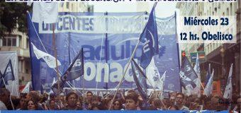 CONADU continúa el plan de lucha con la Marcha Federal Educativa y Paro el 28 y 29 de Mayo