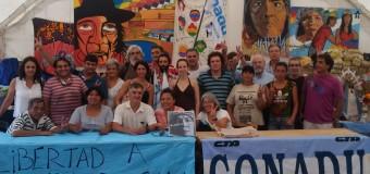 CONADU en la Carpa de la dignidad por la liberación de Milagro Sala