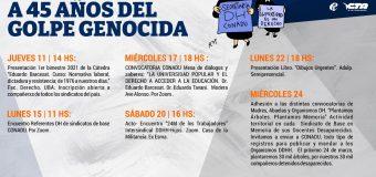 Mes de la Memoria: a 45 años del golpe genocida