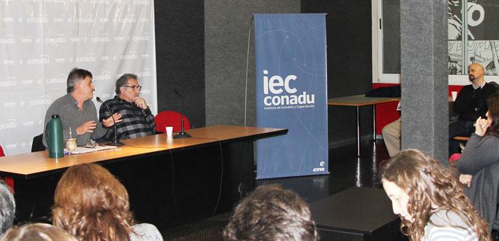 Pedro Sanllorenti y Carlos De Feo, en el panel de apertura