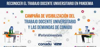 La CONADU desarrolla la Jornada Nacional de Protesta para visibilizar el trabajo en la virtualidad y las demandas de la docencia universitaria