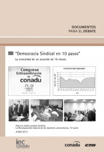 Democracia Sindical en 10 pasos - Julio 2013