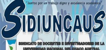 CONADU exige a la UNCAUS el reconocimiento del SIDIUNCAUS y cese de persecución gremial