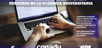 Decisivo avance de CONADU en la defensa de los derechos de la docencia universitaria.