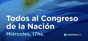 Miércoles, 17 hs. Congreso de la Nación. VAMOS TODXS.