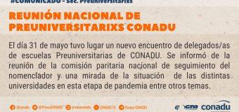 Reunión nacional de Preuniversitarixs CONADU