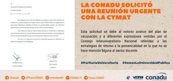 La CONADU reclama urgente reunión de la Comisión de CyMAT