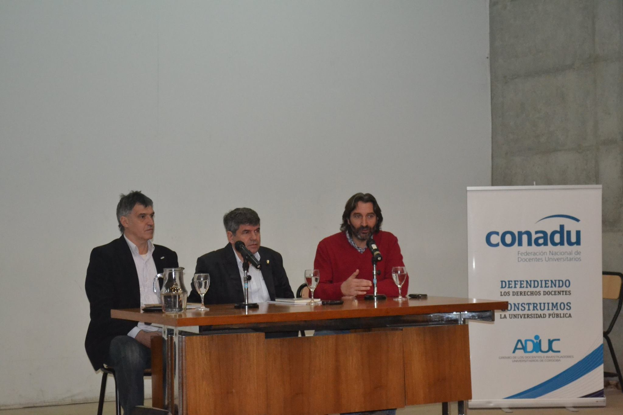 Pedro Sanllorenti, Francisco Tamarit y Pablo Carro