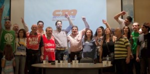 Pablo Carro, Nélida Yermir y Rubén Silva; CTA de Córdoba