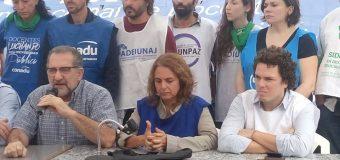 En conferencia de prensa, CONADU anunció altísimo acatamiento al paro