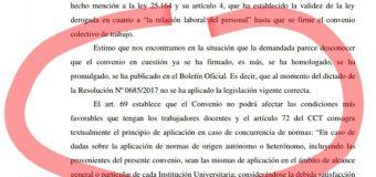La Justicia lo ratifica: el CCT es plenamente aplicable a la UNNE