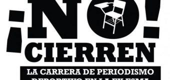 NO al cierre de la Tecnicatura de Periodismo Deportivo en la ex ESMA