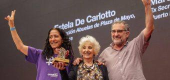 """Reconocimiento """"Mauricio Amílcar López"""" a Estela de Carlotto"""