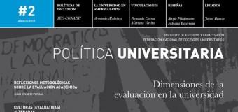 Nuevo ejemplar de Política Universitaria, la revista del IEC