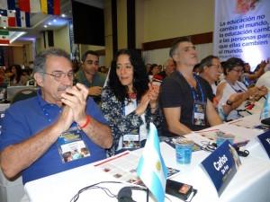 Dirigentes de la  CONADU en la Conferencia