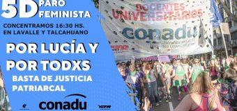 5D: Paro Feminista. Por Lucía y por todxs.