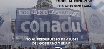Acciones de CONADU hacia el PARO por recomposición salarial