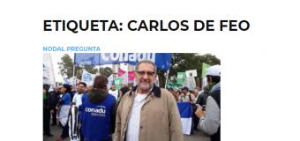 """Carlos De Feo: """"No vamos a permitir que siga el ajuste a las universidades"""""""