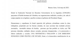 Denunciamos la sistemática violación a los derechos humanos como política de Estado en Colombia