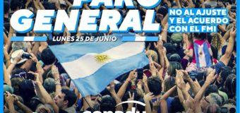25 de junio: #ParoGeneral
