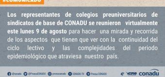 REUNIÓN DE PRE-UNIVERSITARIOS CONADU.