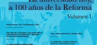 """""""La universidad hoy, a 100 años de la Reforma"""", nuevo ejemplar de Política Universitaria"""