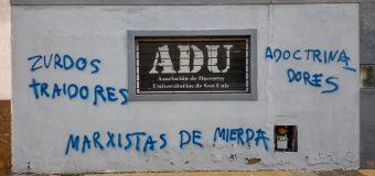 CONADU repudia las acciones de intolerancia contra la sede de ADU