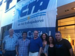 Octavio Miloni, Carlos De Feo, Yamile Socolovsky y Verónica Bethencourt; CTA La Plata