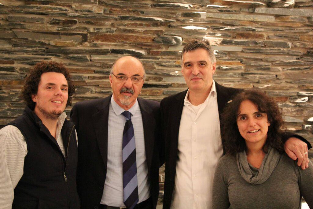 Federico Montero, Carlos Tomada, Pedro Sanllorenti y Verónica Bethencourt